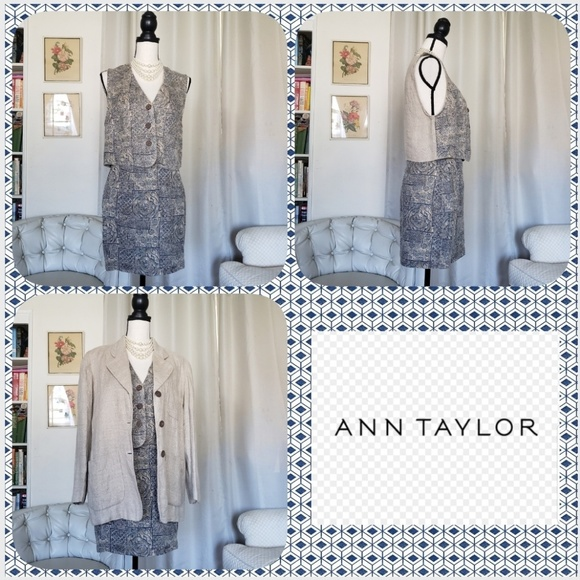 Ann Taylor Dresses & Skirts - Vintage AT linen 3 pc suit sz 4